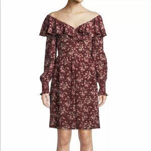Rebecca Taylor Tilda Dress 2 Silk Long Sleeve $495